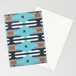 Southwest kilim style stripe // Turquoise Stationery Cards