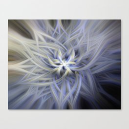 Forget-me-nots Twirled Canvas Print