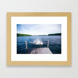 Lake Splash Framed Art Print