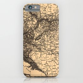 Iconographic Encyclopedia of Science, Literature and Art (1851) - Map of The Austro-Hungarian Empire iPhone Case