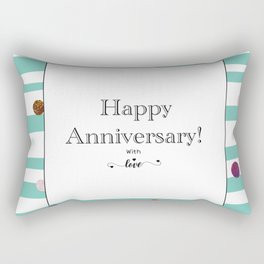 Happy Anniversary greeting Rectangular Pillow