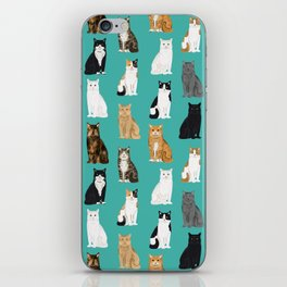 Cat lover must have gifts for cat ladies cat men kitty cats iPhone Skin