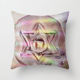 Floating Star Of David Throw Pillow