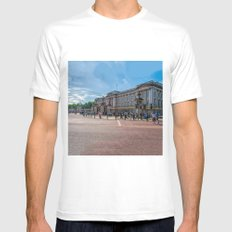 London - Buckingham Palace MEDIUM White Mens Fitted Tee