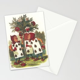 Painting the roses red Stationery Cards
