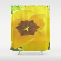 sunshine Shower Curtains featuring  Sunshine by lillianhibiscus