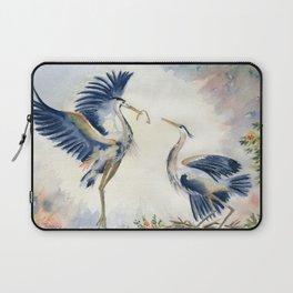 Great Blue Heron Couple Laptop Sleeve