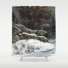 "Gustave Courbet ""The Winter (L'Hiver)"" Shower Curtain"