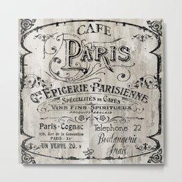 Paris Bistro VIII Metal Print