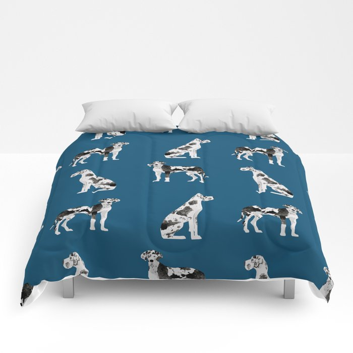 Great Dane harlequin coat dog breed gifts pet patterns for pure breed lovers Comforters