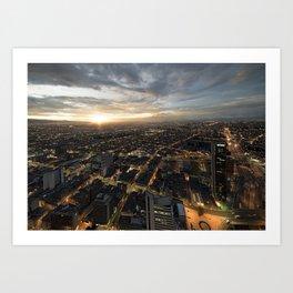 Flat Bogota Art Print