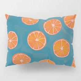 hand-painted california orange slices Pillow Sham