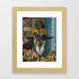 'southern by the grace of god' Framed Art Print