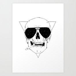 Smokes & Skulls Art Print