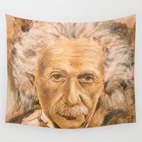 einstein Wall Tapestries featuring Einstein by Les Joanneries & Jacques Lajeunesse