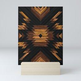 Urban Tribal Pattern No.7 - Aztec - Wood Mini Art Print