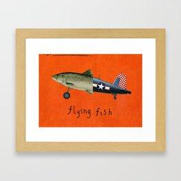 flying fish Framed Art Print