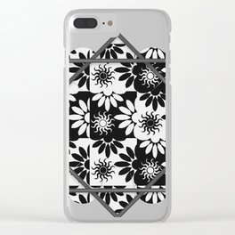 Tessellation Framed Clear iPhone Case