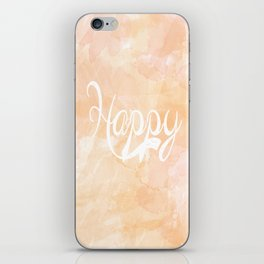 Watercolor Happy iPhone Skin