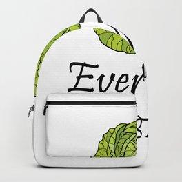 Everyday I'm Brussel Vegan Funny Vegetarian Gifts Backpack