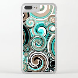 Water Whirlwind Abstract 2 Clear iPhone Case