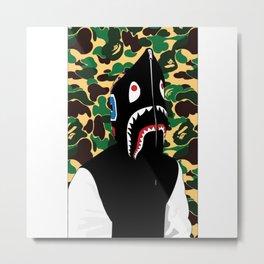 Bape Shark Patten Metal Print