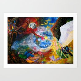 Marriage of Heaven and Hell Art Print