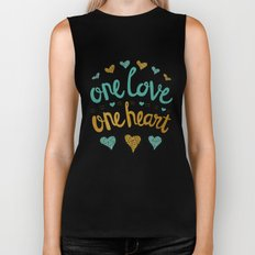 One Love One Heart Biker Tank