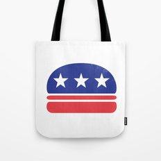 I Vote for Burger! Tote Bag