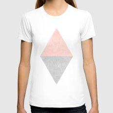 Diamond White Womens Fitted Tee LARGE