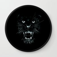 beast Wall Clocks featuring Beast by Giuseppe Cristiano
