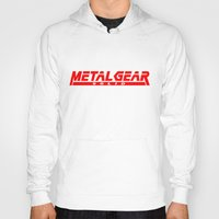 metal gear Hoodies featuring Metal Gear Solid red by Hisham Al Riyami