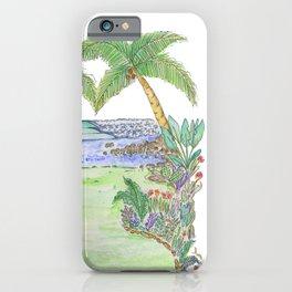 Costa Rica Surf Art Pan Dulce  iPhone Case