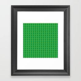 Green All Over Framed Art Print