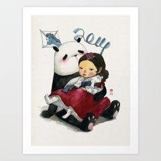 Panda New Year Art Print