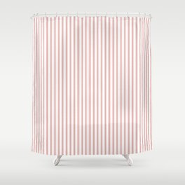 Small Camellia Pink and White Mattress Ticking Stripes Shower CurtainTicking Shower Curtains   Society6. Pink And White Striped Shower Curtain. Home Design Ideas