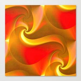 Whirly Curly (orange) Canvas Print