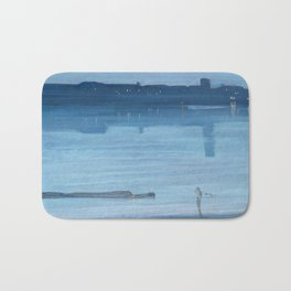 James Abbott McNeill Whistler - Nocturne- Blue and Silver Bath Mat