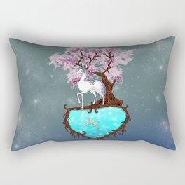 Lonely Unicorn Rectangular Pillow