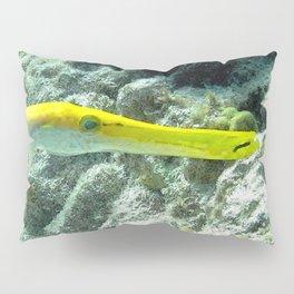 Watercolor Fish, Yellow Trumpetfish 01, Bonaire, Dutch West Indies, The Flash Pillow Sham