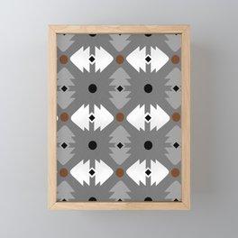 Modern Desert Fox Southwest Pattern Framed Mini Art Print