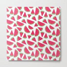 Watermelon Slices Collage Metal Print