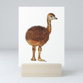Fluffy Emu Chick Mini Art Print