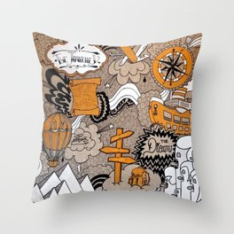 The Journey Is Part Of The Dream  Throw Pillow