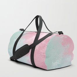 Modern abstract pink teal watercolor pattern Duffle Bag