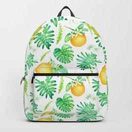 Citrus Tropics - White Backpack
