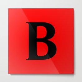 B MONOGRAM (BLACK & RED) Metal Print