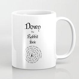 Alice In Wonderland Down The Rabbit Hole Coffee Mug