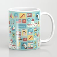 parks and recreation Mugs featuring Parks and Recreation by Kitkat Lastimosa