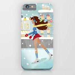 Ice Skating Girl iPhone Case